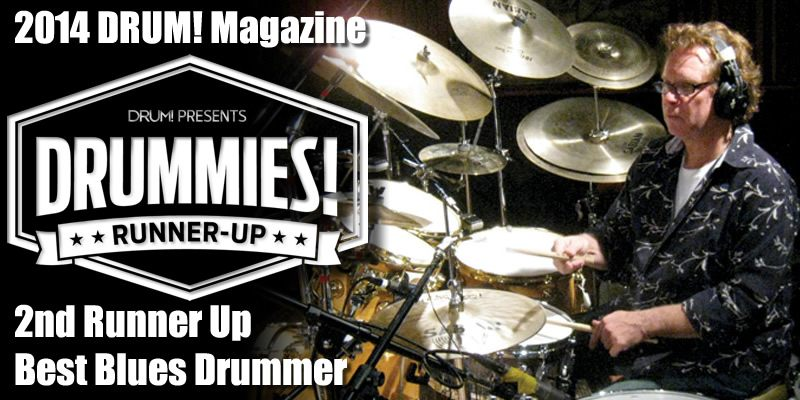 tony braunagel 2014 drum magazine drummies awards- 2nd runner up best blues
